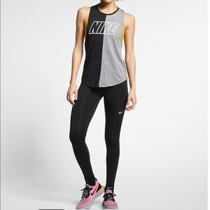 Nike running tights drawstring